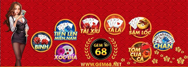 Gem68 - Cổng game bài mới ra siêu hấp dẫn