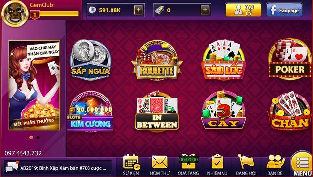 Gem68 có hệ thống game bài đổi thưởng club cực kỳ đa dạng